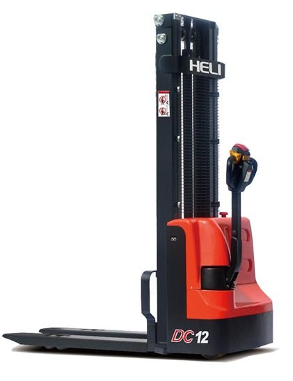 CDD12J Electric Pallet Stacker - Forkover - 2,650 lbs